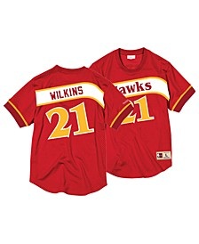 Men's Dominique Wilkins Atlanta Hawks Name and Number Mesh Crewneck Jersey