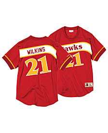 Mitchell & Ness Men's Dominique Wilkins Atlanta Hawks Name and Number Mesh Crewneck Jersey