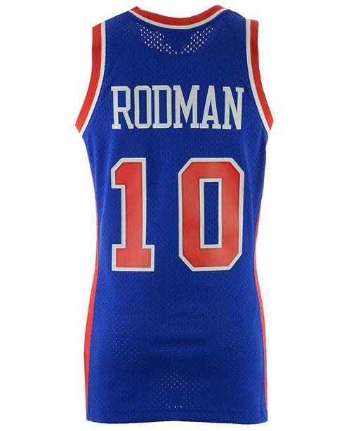 info for 9f065 96c21 Men's Dennis Rodman Detroit Pistons Hardwood Classic Swingman Jersey