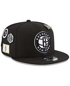 New Era Boys' Brooklyn Nets On-Court Collection 9FIFTY Snapback Cap