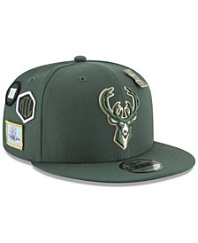 New Era Boys' Milwaukee Bucks On-Court Collection 9FIFTY Snapback Cap