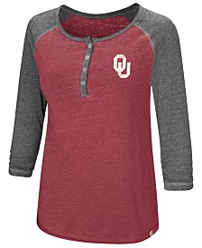 Colosseum Women's Oklahoma Sooners Burnout Heather Henley T-Shirt