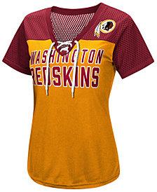 G-III Sports Women's Washington Redskins Shake Down Jersey T-Shirt