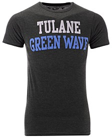 Men's Tulane Green Wave Team Stacked Dual Blend T-Shirt