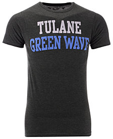 Retro Brand Men's Tulane Green Wave Team Stacked Dual Blend T-Shirt
