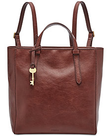 Fossil Camilla Convertible Leather Backpack