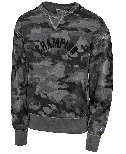 fe507c959 Champion Men s Camo-Print Fleece Logo Sweatshirt   Reviews - T ...