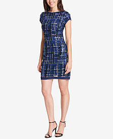 Vince Camuto Sequined Plaid Dress