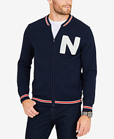 Nautica Men's Logo Baseball Jacket, Created for Macy's
