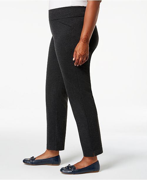Charter Plus On Heather Size Pull Macy's Onyx Created Club Pants for STqwg