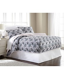 Micro Flannel® Twin Fitted Quilt Mini Set