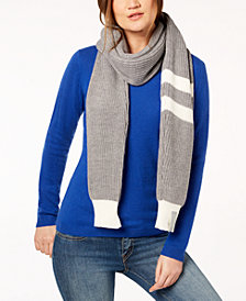 Calvin Klein Contrast Varsity-Stripe Scarf
