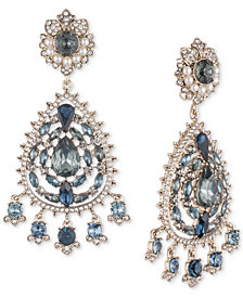 Marchesa Gold-Tone Crystal, Stone & Imitation Pearl Chandelier Earrings