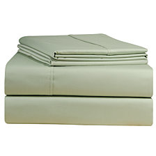 Pointehaven Solid Pillowcase Pair, 500 Thread Count Cotton Sateen