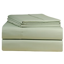 Pointehaven Solid Pillowcase Pair, 500 Thread Count Cotton Sateen