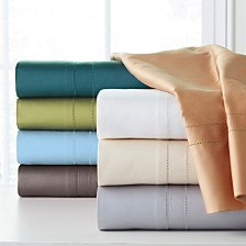 Pointehaven Solid 4-Pc. Sheet Sets, 620 Thread Count Cotton