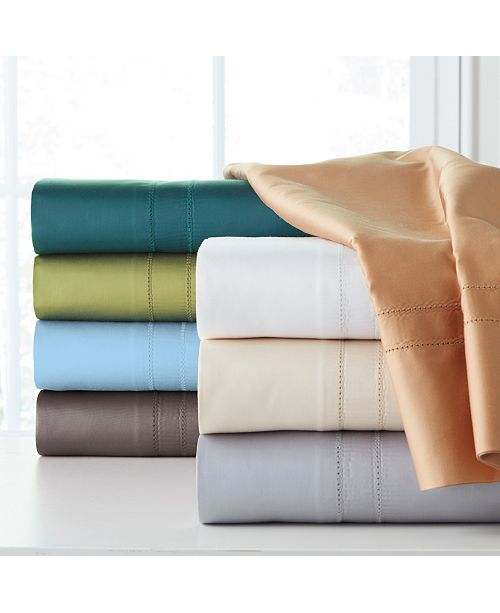 Pointehaven Solid 4-Pc. Sheet Sets, 620 Thread Count Cotton