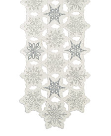"Elrene Snowy Dream 13"" x 70"" Table Runner"