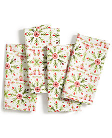 "Fiesta Winter Wonder 19"" x 19"" Napkins, Set of 4"