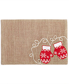 "Homewear Snowy Mittens 13"" x 19"" Placemat"