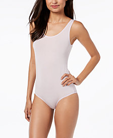 I.N.C. Women's Smooth Shimmer Tank Bodysuit, Created for Macy's
