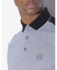 A|X Armani Exchange Heathered Colorblocked Polo