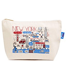 Exclusive Cityscape Zipper Purse Designed By Julia Gash For Macys New York.