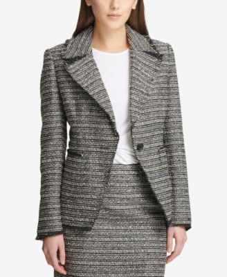 One-Button Tweed Blazer, Created for Macy's