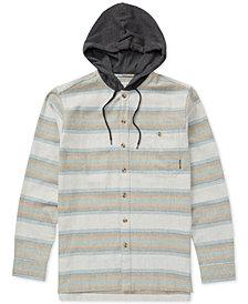 Billabong Men's Baja Flannel Hooded Shirt