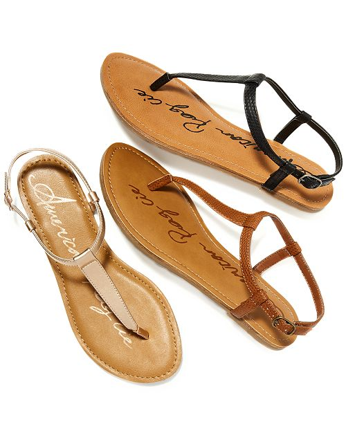 ecadda1498ed American Rag Krista T-Strap Flat Sandals