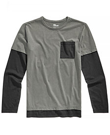 Epic Threads Big Boys Layered-Look Pocket T-Shirt, Created for Macy's