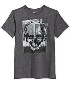 Epic Threads Big Boys Skull Music-Print T-Shirt, Created for Macy's