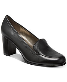 Bandolino Ambrocio Stacked Block-Heel Loafer Pumps