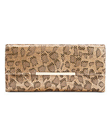 I.N.C. Hether Leopard Mesh Clutch, Created for Macy's