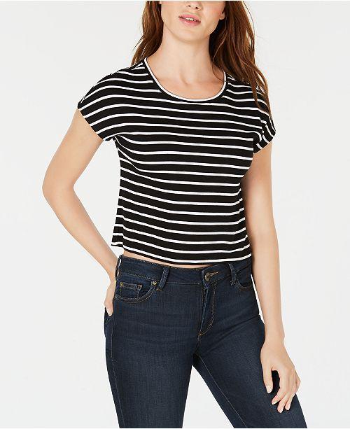 Macy's Stripe Striped for Created Bar T Shirt Black III Cropped White avOqx0H