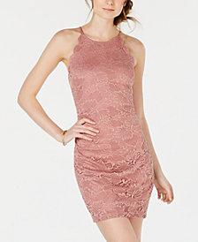 BCX Juniors' Scalloped Lace Bodycon Dress