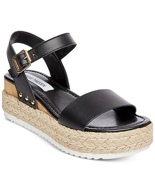 855863aa7 Steve Madden Women s Chiara Flatform Espadrille Sandals   Reviews ...