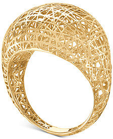 Mesh Openwork Statement Ring in 10k Gold