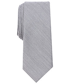 Bar III Men's New Herringbone Skinny Tie, Created for Macy's