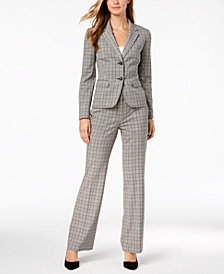 Nine West Plaid Blazer & Trousers