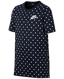 Nike Big Boys Dot-Print Cotton T-Shirt