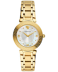 Versace Women's Swiss Daphnis Gold-Tone Stainless Steel Bracelet Watch 35mm