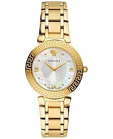 Versace Women's Swiss Daphnis Gold-Tone Stainless Steel Bracelet Watch 35mm