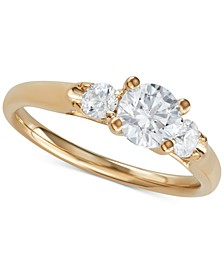 Diamond Three-Stone Engagement Ring (1 ct. t.w.)