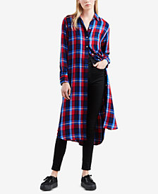 Levi's® Cece Long Plaid Shirt