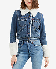 Levi's® Styled Fleece Trucker Denim Jacket