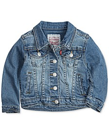Toddler Girls Snap Button-Front Denim Jacket