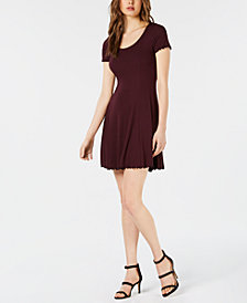 Bar III Ribbed Fit & Flare Dress, Created for Macy's