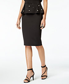 Thalia Sodi Peplum Pencil Skirt, Created for Macy's