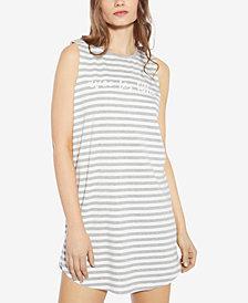 Avec Les Filles Striped Knit Dress